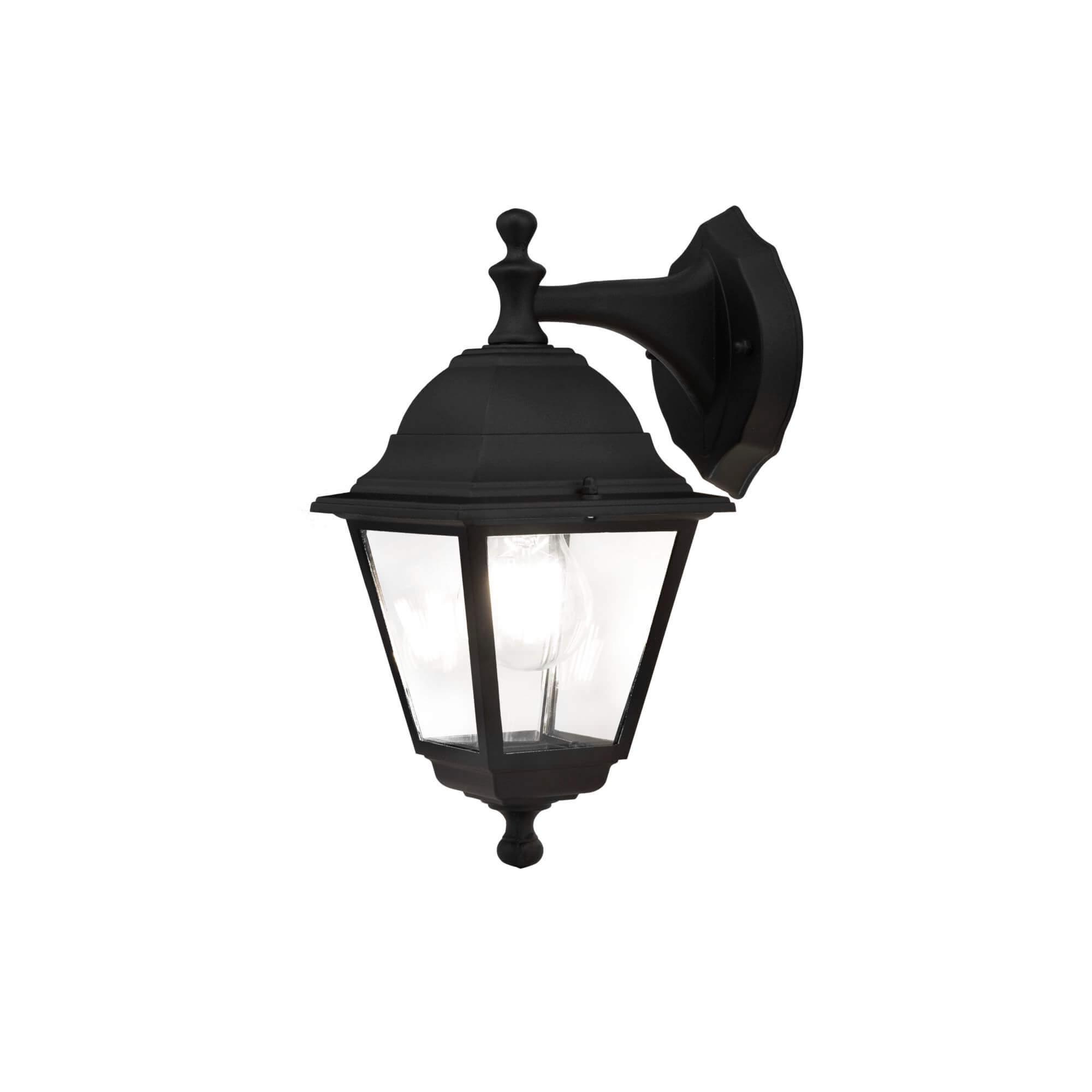 Стенна лампа Abbey Road, черно, с IP44