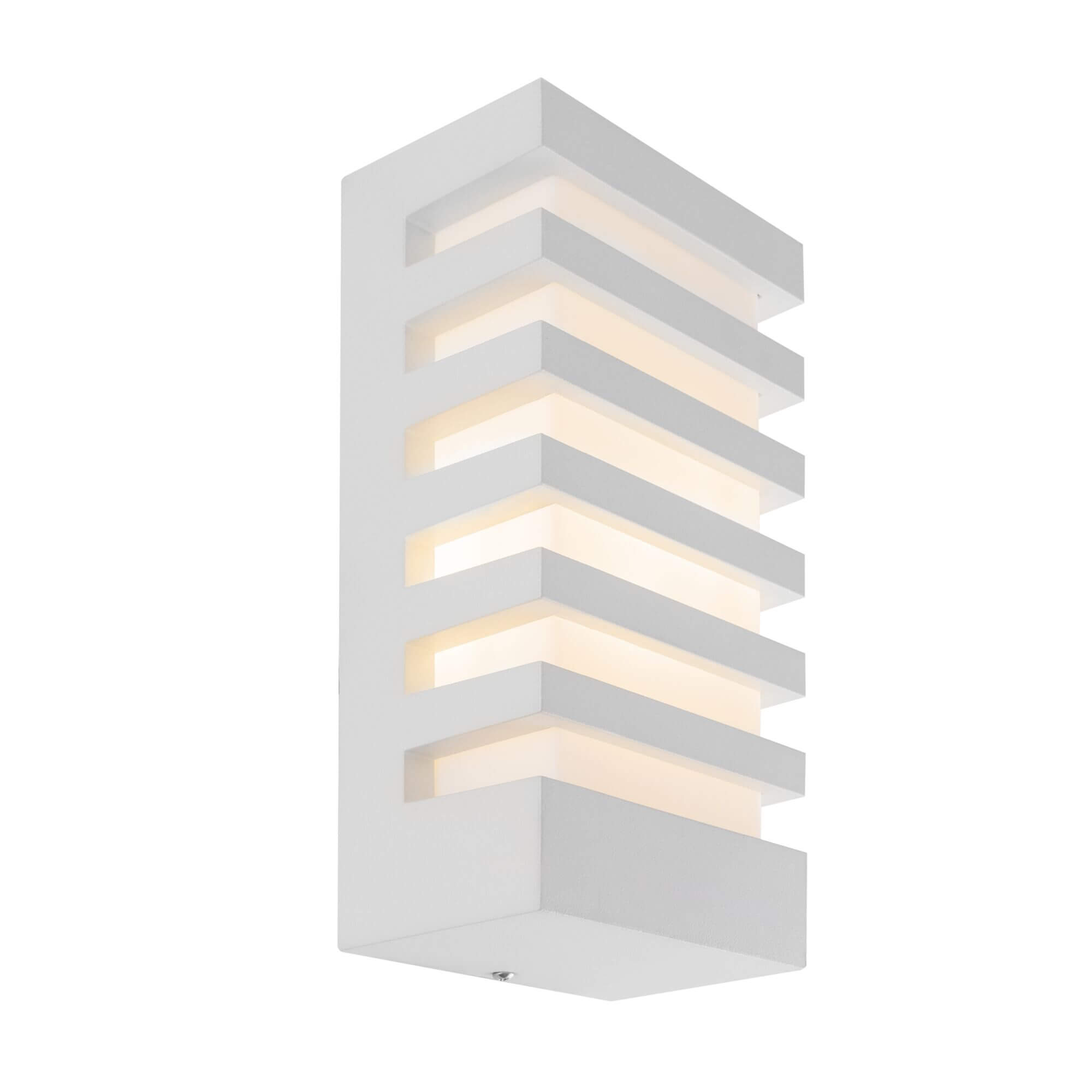 Стенна лампа Remsa, бяло, с IP54