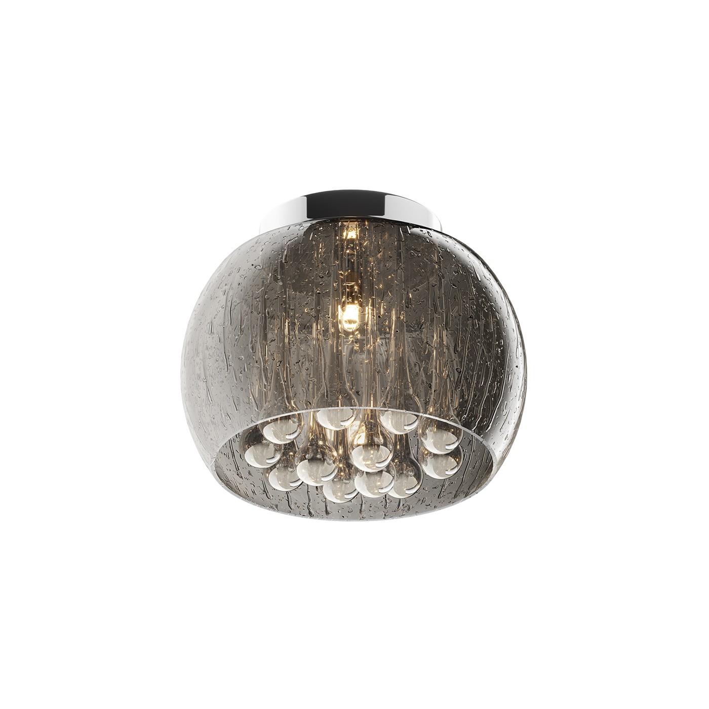 Таванна лампа Rain, сребърна