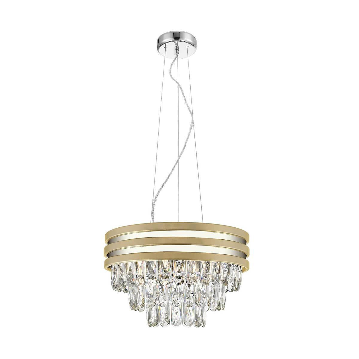 Висяща лампа Naica, сребристо и златно