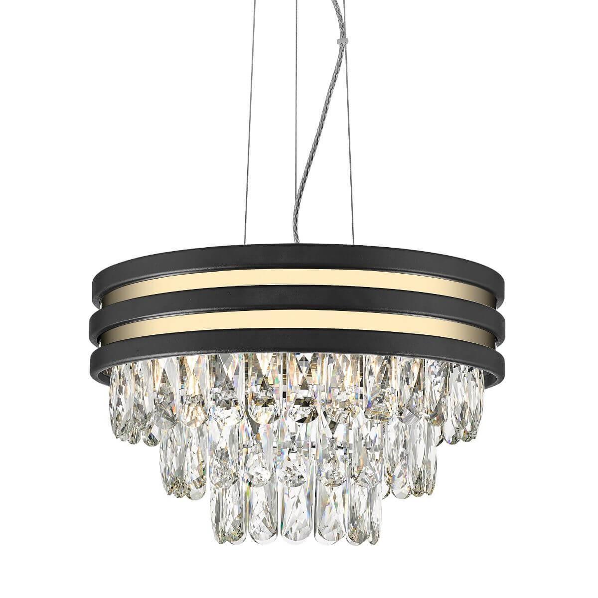Висяща лампа Naica, черно и златно