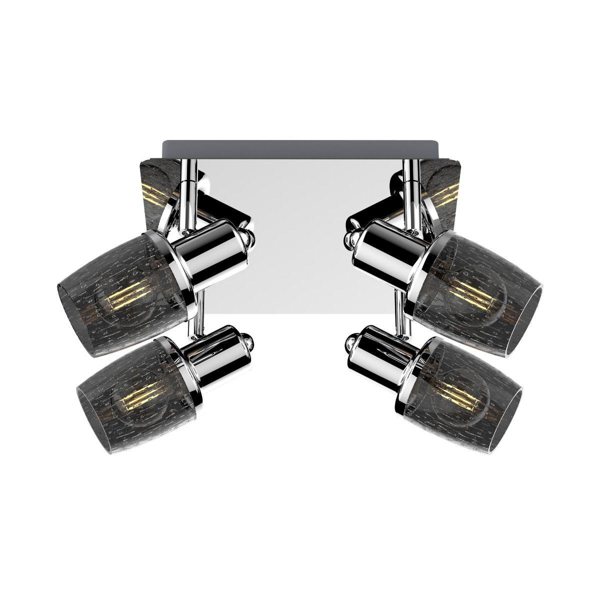 Таванна лампа Poso, черна
