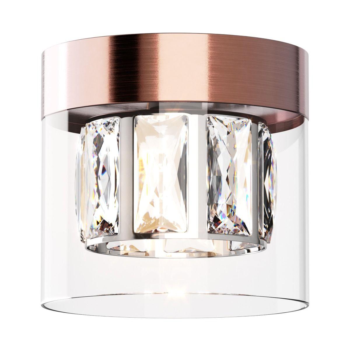 Таванна лампа Gem, мед