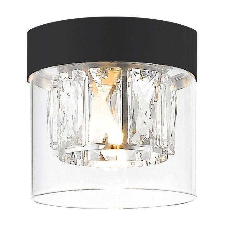 Таванна лампа Gem, черна