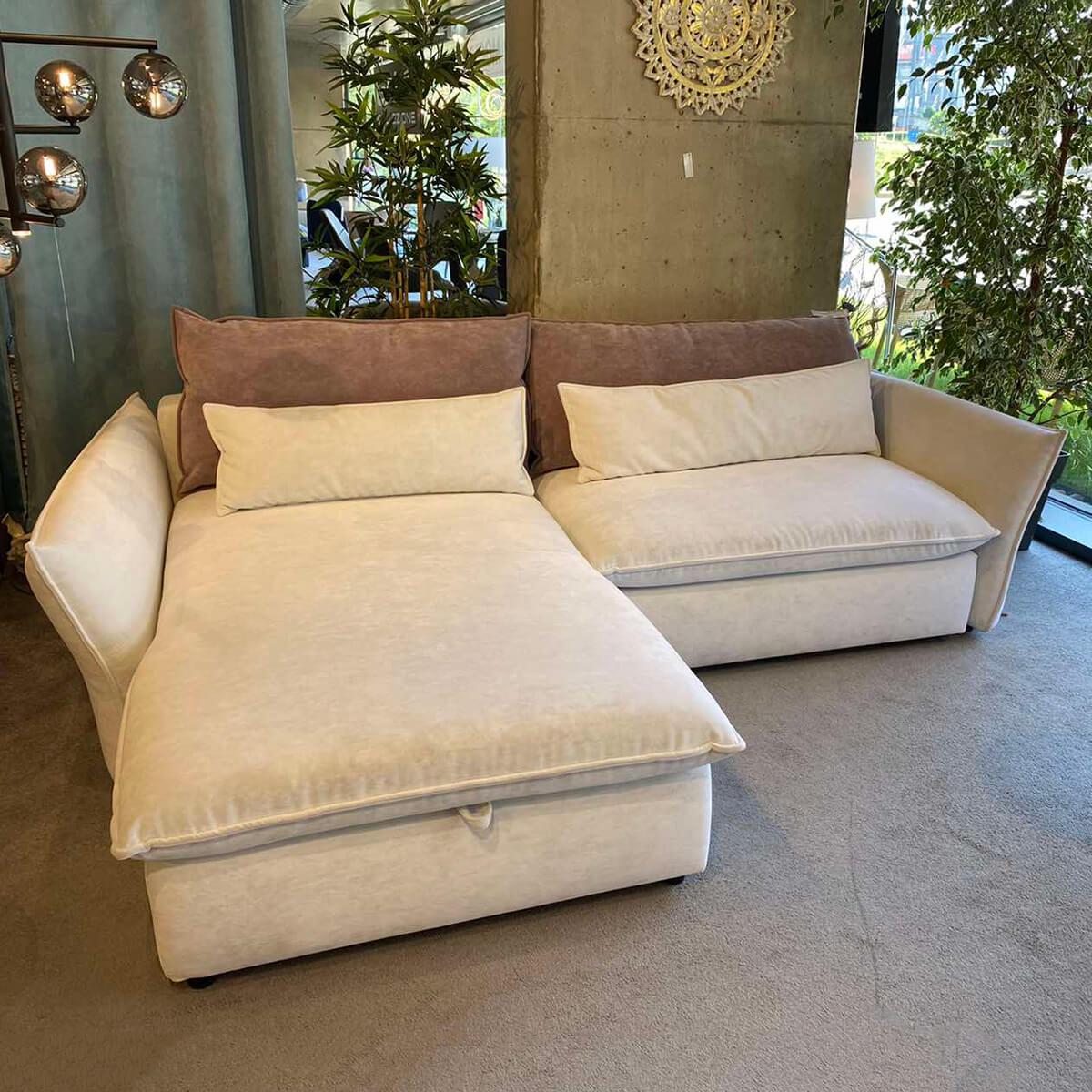 Разтегателен ъглов диван с ракла Merida - мостра