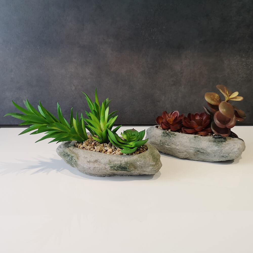 Декоративни цветя в камък - мостра