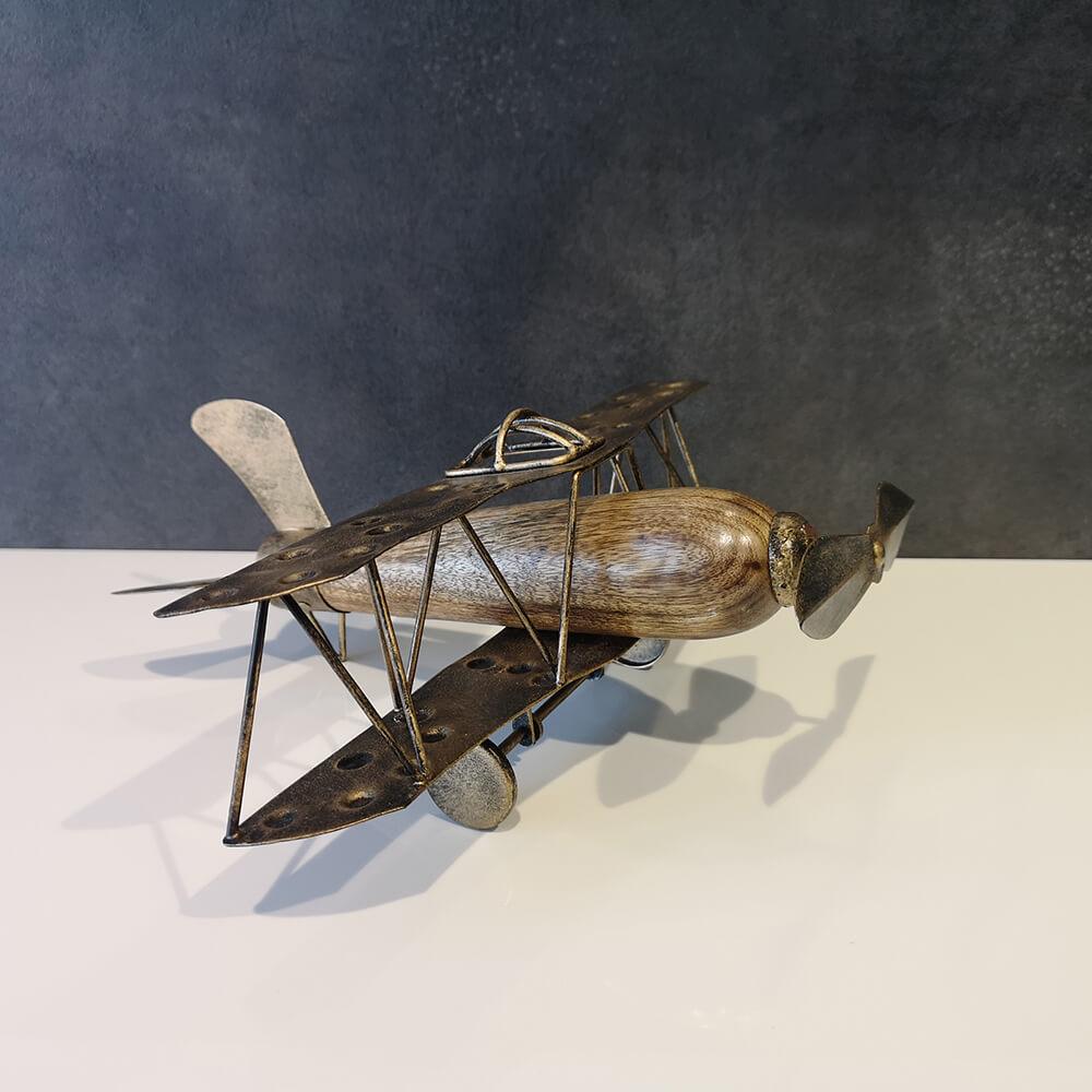 Декоративен самолет, дърво - мостра