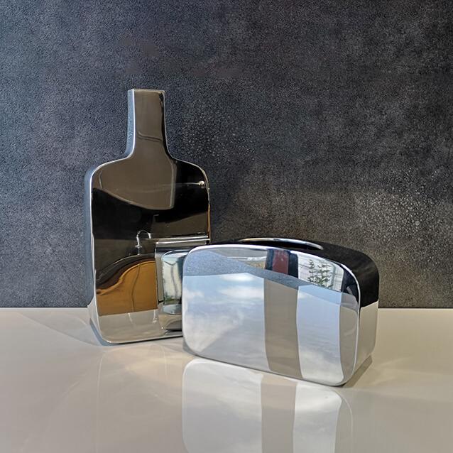Огледални вази Philippi , хром - мостра