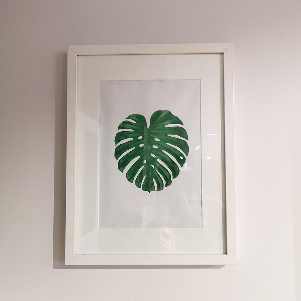 Картина с листо - мостра