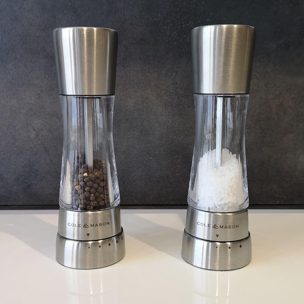 Мелнички за сол и пипер, Derwent, от Cole & Mason, хром - мостра