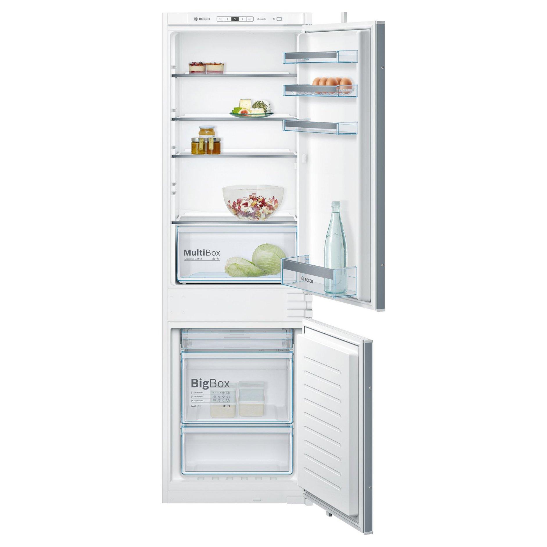 Хладилник-фризер за вграждане, KIN86VS30, BOSCH