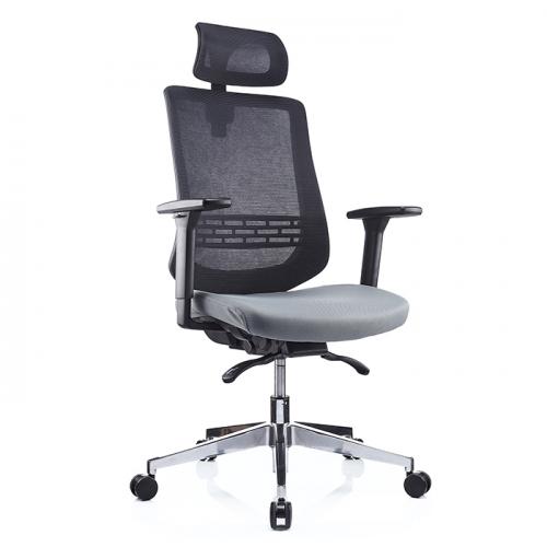 Ергономичен офис стол 1000 H, сив