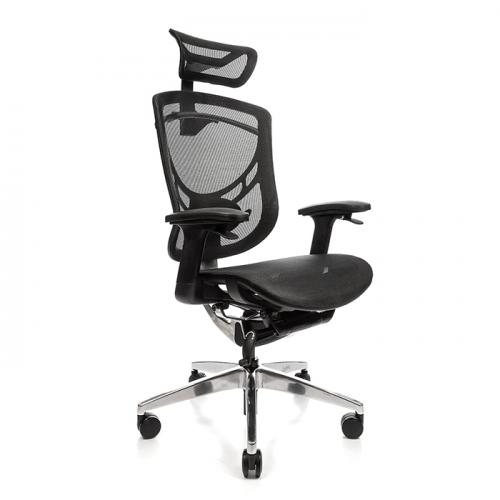 Ергономичен офис стол Ergo Joy, черен