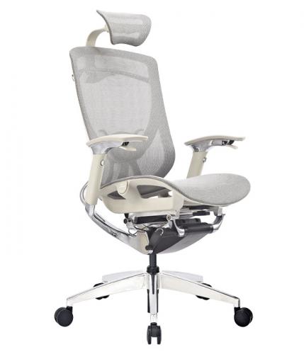 Ергономичен офис стол Ergo Lux, светло сив