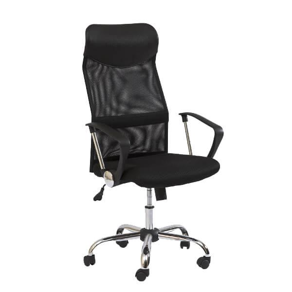 Офис стол, черен Q-025