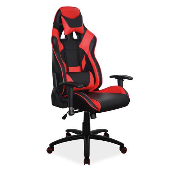 Геймърски стол, червен Supra