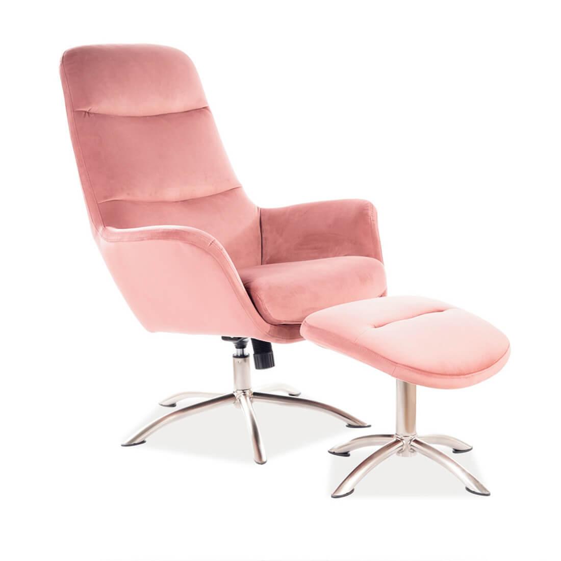 Директорски стол Nixon Velvet Anque pink
