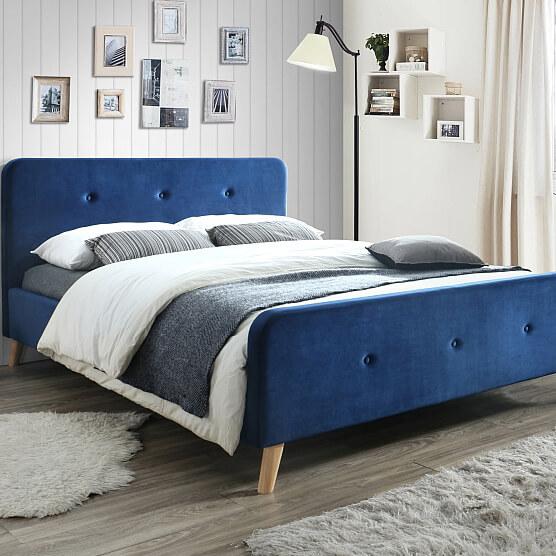Тапицирано легло Malmo velvet