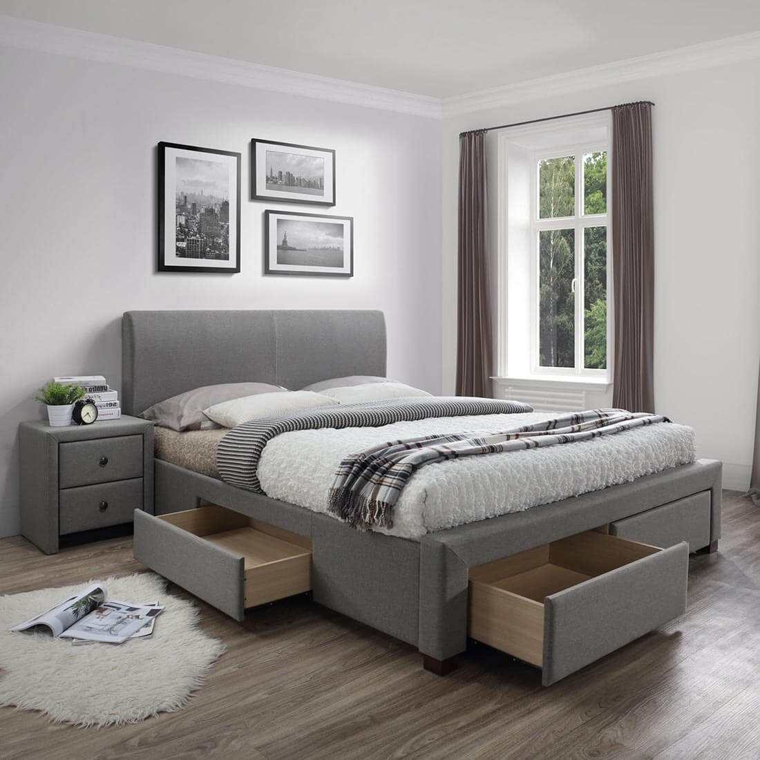 Тапицирано легло Modena 140