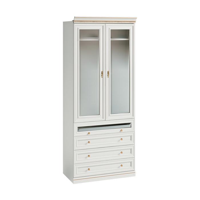 Двукрилен гардероб с витрина и чекмеджета, гардеробна Verona
