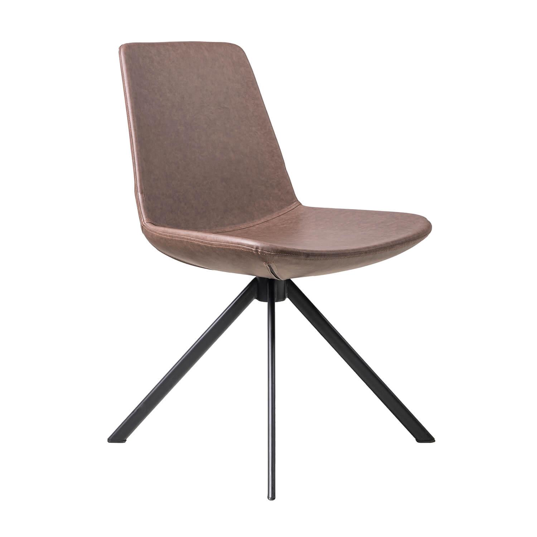 Трапезен стол Manu, кафяв