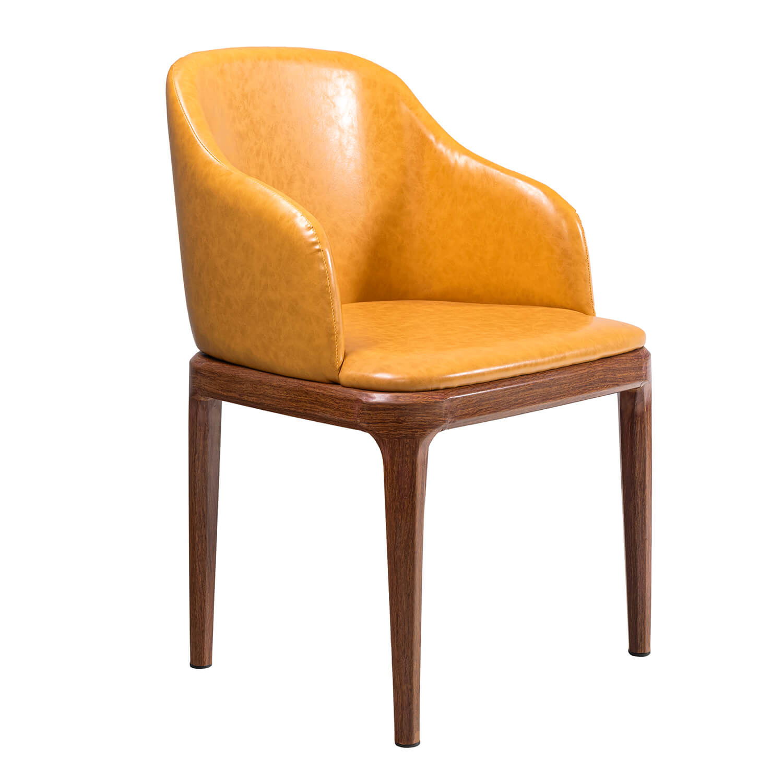 Rafael, yellow Dining chair