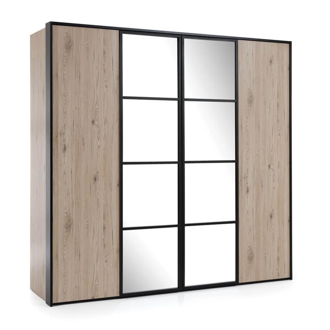 Четирикрилен гардероб, колекция Glass Loft