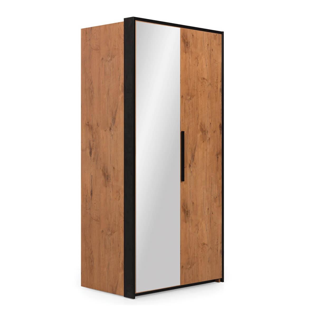 Двукрилен гардероб с огледало Д, колекция Loft
