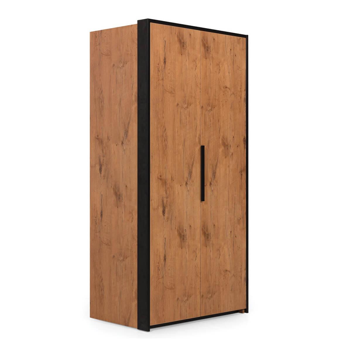 Двукрилен гардероб Л, колекция Loft