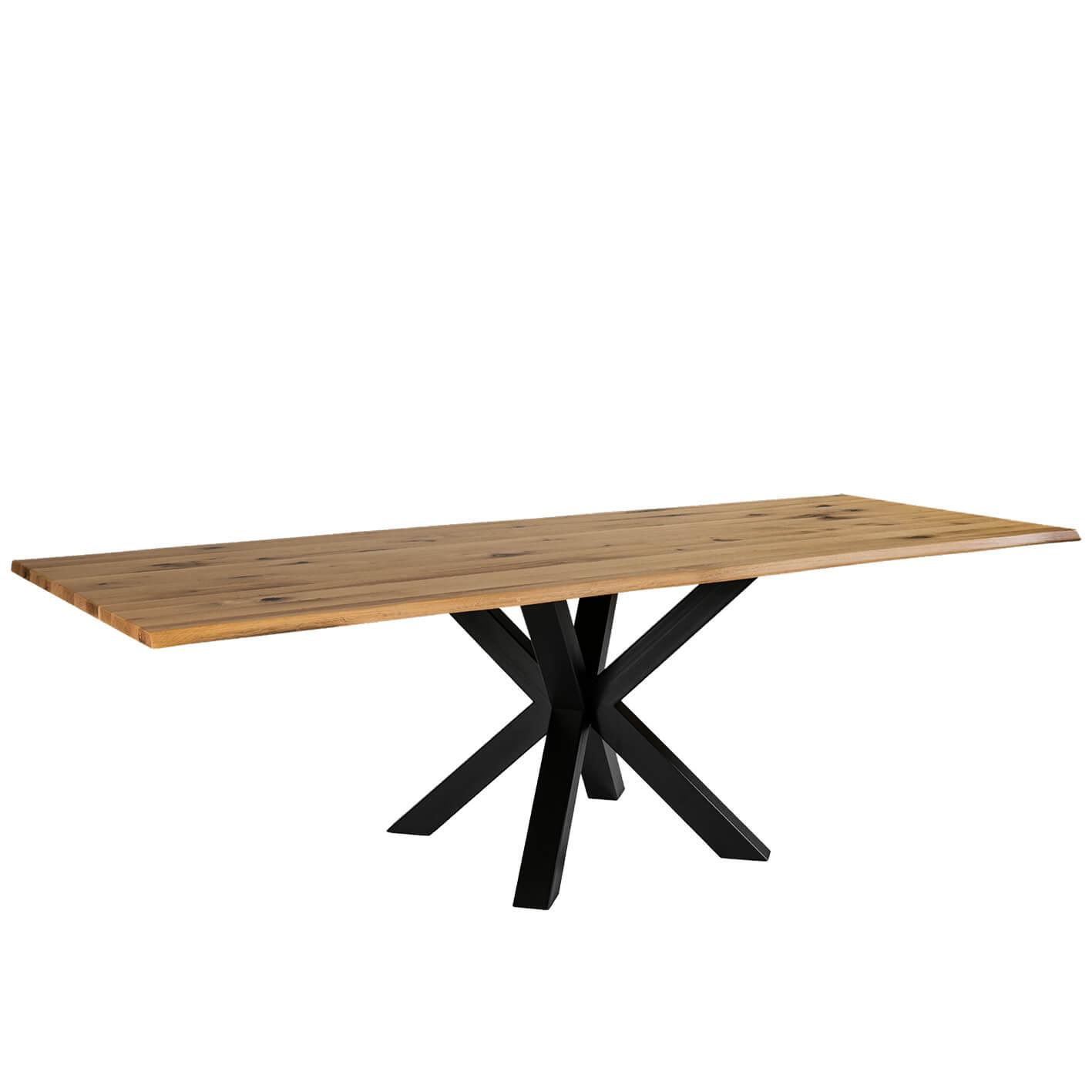 Трапезна маса с масивен плот, дъб, Modena 160